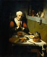 Nicolaes Maes - Oude vrouw in gebed