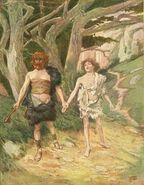 Cain leadeth abel to death tissot