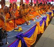 Rank celebration of Thai Buddhist monk 1