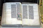 Malmesbury Abbey's 1407 Bible from Belgium