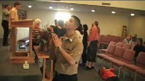 Slain in Spirit!!! Bill Easter!!! Pentacostal Church