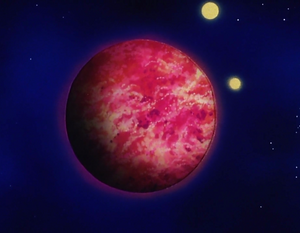 Planet Vegeta, formerly known asPlanet Plant, in Bardock - The Father of Goku