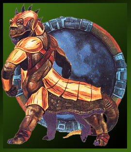 A young KessRith Dominator wearing formal armour for the ohysical combat part of a Domination challenge.