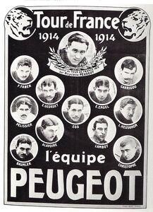 Equipe PEUGEOT TDF 1914