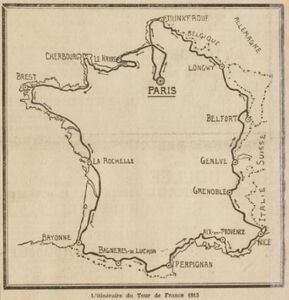 TdF 1913 Parkoers