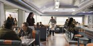 Harry and Asta Entering Joe's Diner