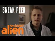 Does Harry Feel Guilty About Invading Earth? - Resident Alien Preview - SYFY