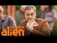 Harry's Love for Pizza Saves Humankind - Resident Alien - SYFY