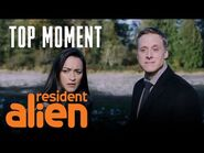 Harry Crashes A Funeral - Resident Alien - Episode 1 - SYFY