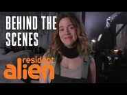 Strange Encounters Of The Awkward Kind -Behind The Scenes- - Resident Alien - SYFY