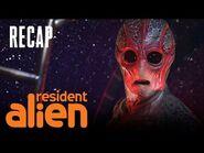 Harry Forgot The Pizzas! -RECAP- - Resident Alien - SYFY