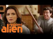 Mayor Ben & His Wife Defend Their Kids from Government Agents - Resident Alien - SYFY