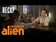 D'arcy Gets Drunk With Harry's Wife -RECAP- - Resident Alien - SYFY