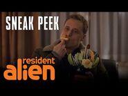 "SYFY's ""Resident Alien"" - Sneak Peek- Harry Meets Giorgio - SYFY"