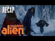 Harry Reveals His Real Name -RECAP- - Resident Alien - SYFY