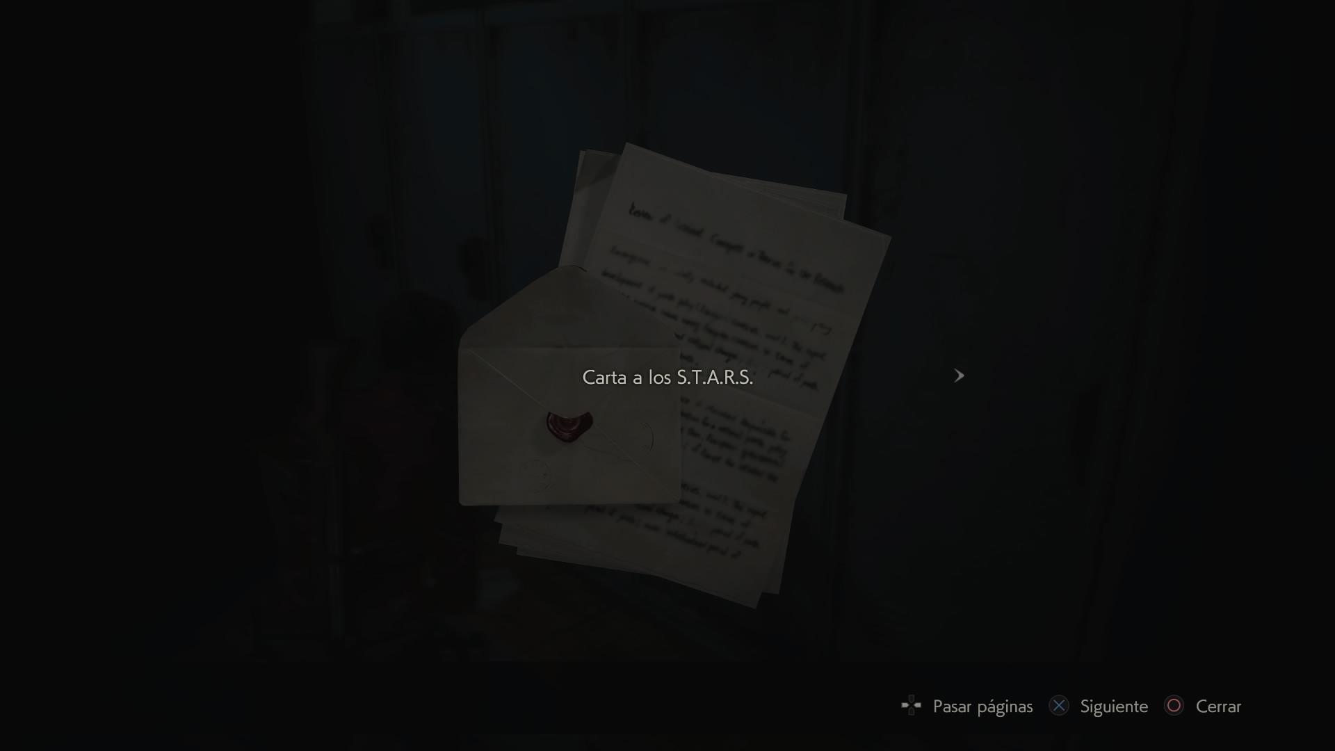 Carta a los S.T.A.R.S.