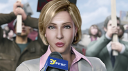 Degeneration - Airport newswoman outside airport 1