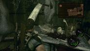 Resident Evil 5 Ancient Village skeleton