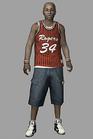 Resident evil outbreak jim chapman 3d ingame model basketball costume