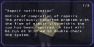 Repair notification page 1