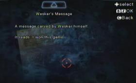 Mensaje de Wesker.png