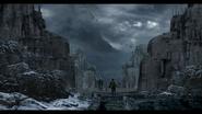 Resident Evil Village concept art - Four Kings Statues Ruins