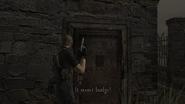 Resident Evil 4 Village - Church side door examine 1