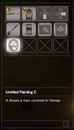 RESIDENT EVIL 7 biohazard Untitled Painting C inventory