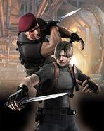 Resident-evil-4-wii-art-leon-krauser-knife-fight
