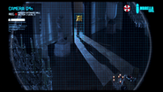 Resident Evil film - Looking Glass House entrance hall CCTV