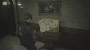 RE2 remake Police Station Upper Floors Map location