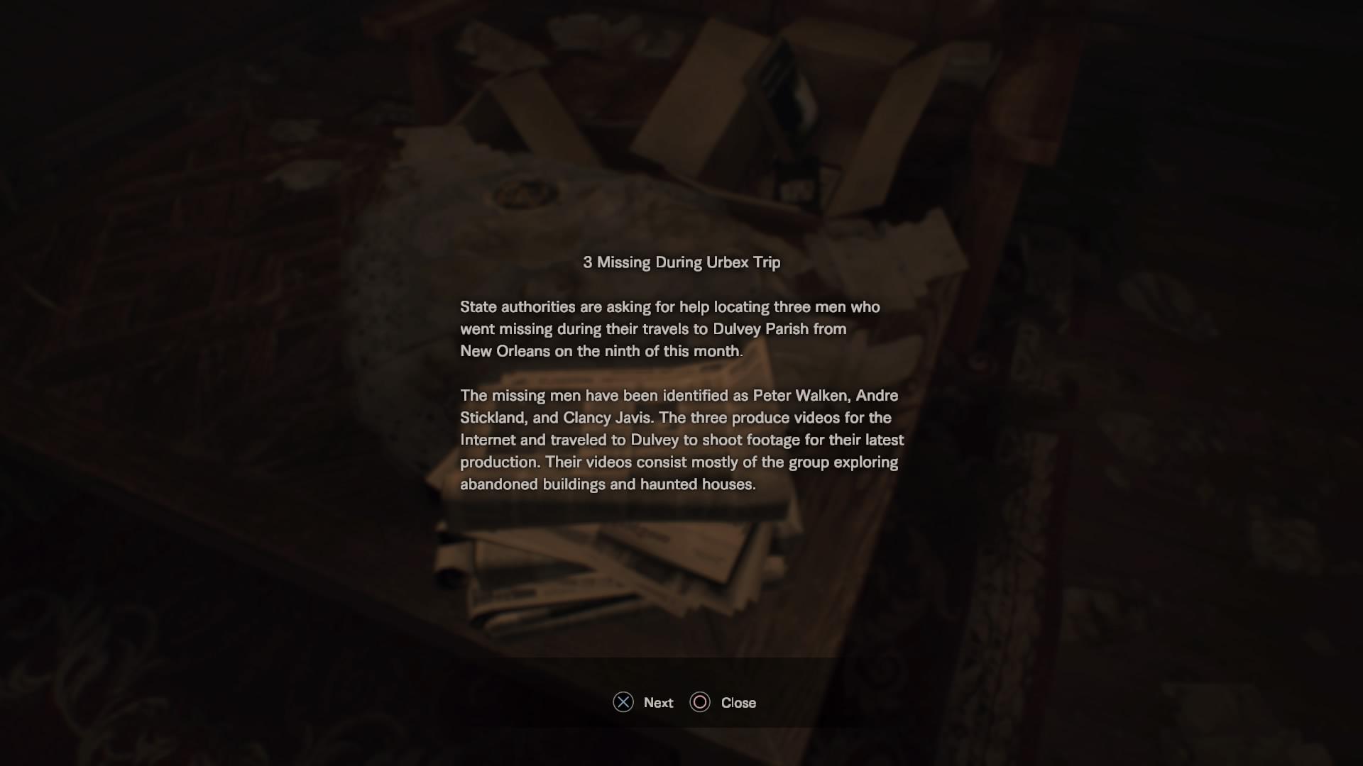 Newspaper Article - Missing People