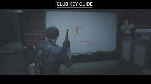 Resident Evil 2 Remake Guides Club Key Guide