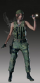 RE2 remake Claire Military