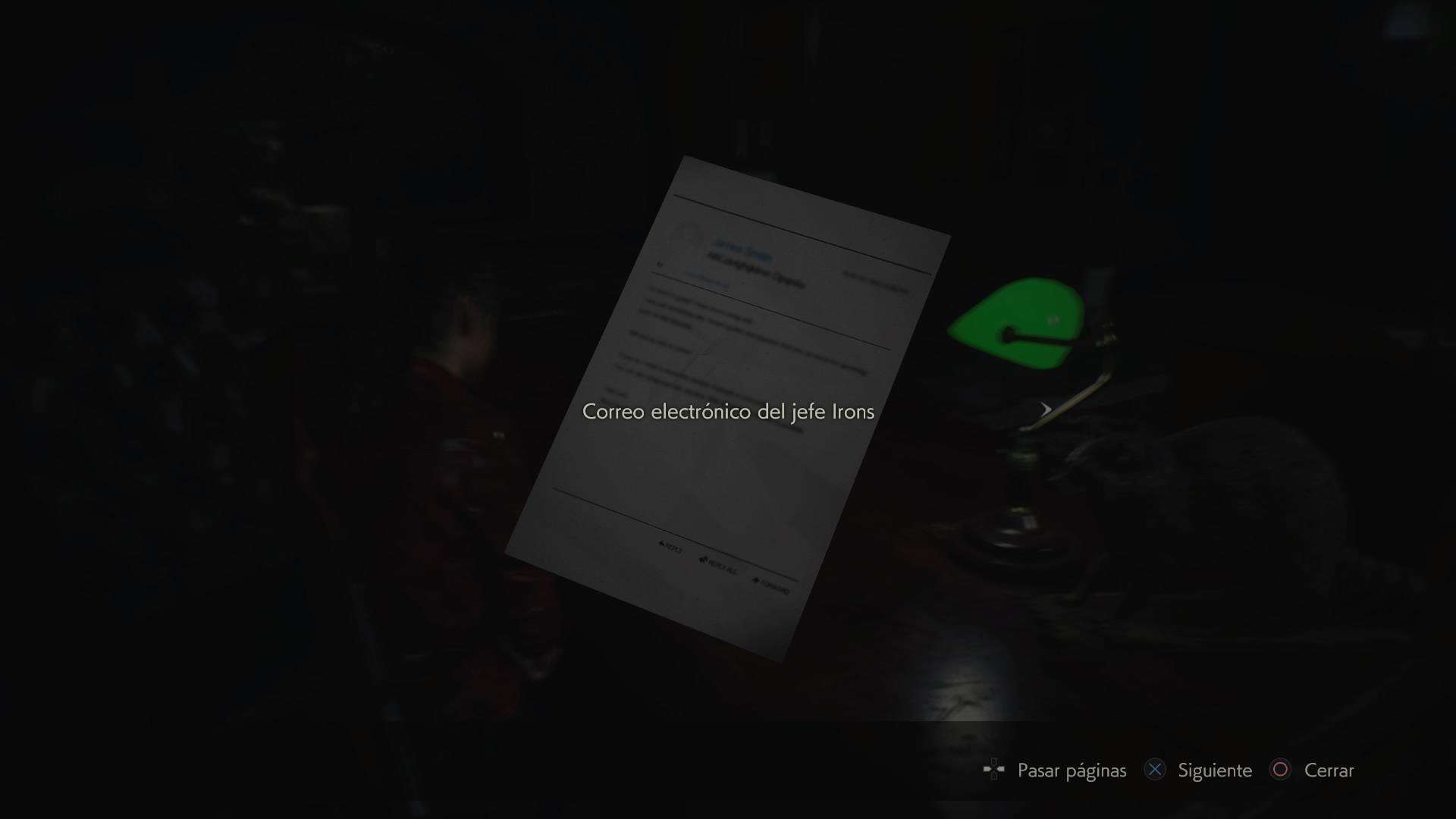 Correo electrónico del jefe Irons