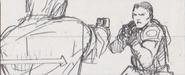 Leon vs. Chris storyboard 17