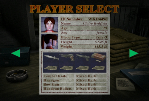 Claire Redfield/gameplay