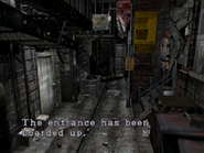 Resident Evil 3 Nemesis screenshot - Uptown - Boulevard examine 02