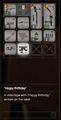 RESIDENT EVIL 7 biohazard Happy Birthday inventory