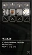 RESIDENT EVIL 7 biohazard Chem Fluid inventory