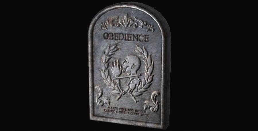 Lápida de obediencia