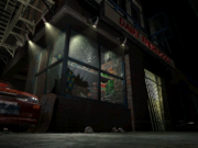 Resident Evil 3 background - Uptown - street along apartment building j - R10D06.png