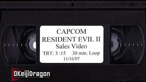 Resident Evil 2 Sales Video VHS November 16, 1997