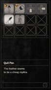 RESIDENT EVIL 7 biohazard Quill Pen inventory