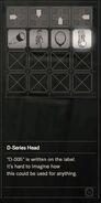 RESIDENT EVIL 7 biohazard D-Series Head inventory