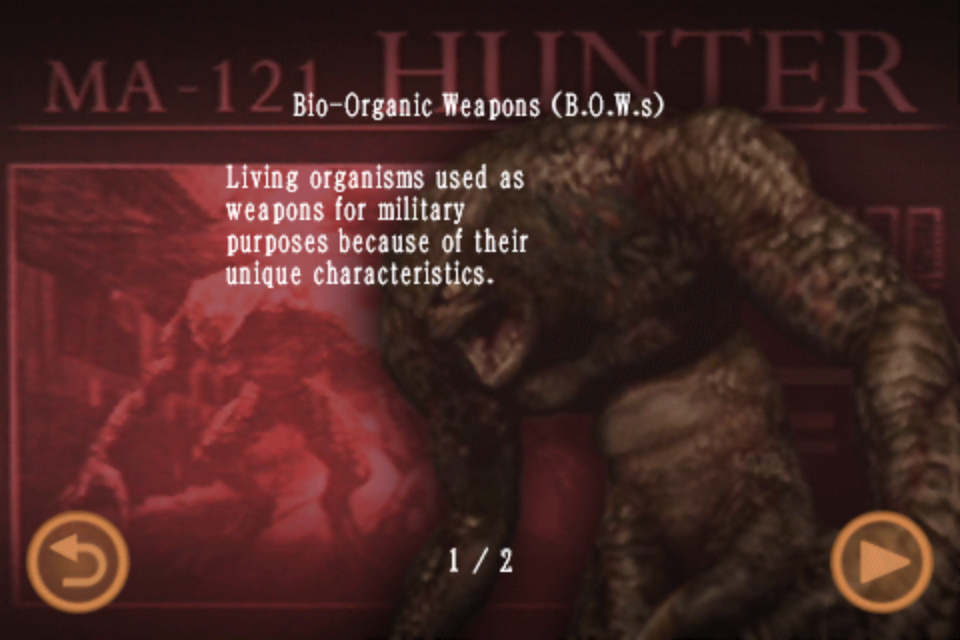 Bio-Organic Weapons (B.O.W.s) (Mobile Edition file)