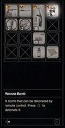 RESIDENT EVIL 7 biohazard Remote Bomb inventory