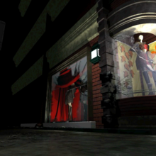 Resident Evil 3 background - Uptown - street along apartment building i - R10D05.png