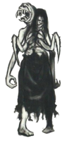 Parasite woman two headed