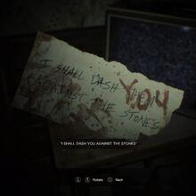 Resident Evil 7 Teaser Beginning Hour note 2 read.jpg